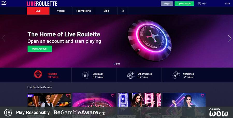Liveroulette Casino Reviews Ratings Games Bonuses Casinowow