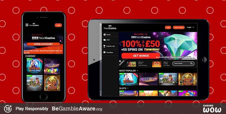 Next casino mobile app