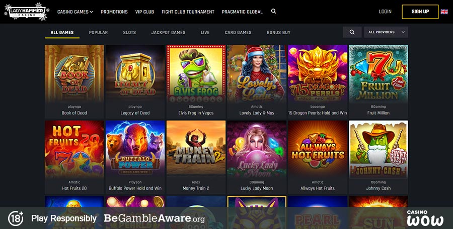 Lady Hammer Casino Games