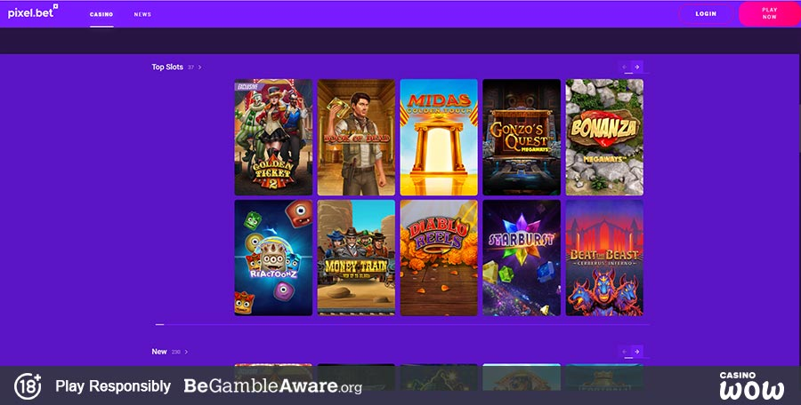 Pixel.bet Casino Games